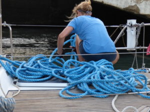 Mooring line knot